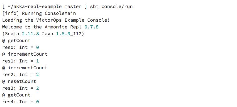 Running Console Main
